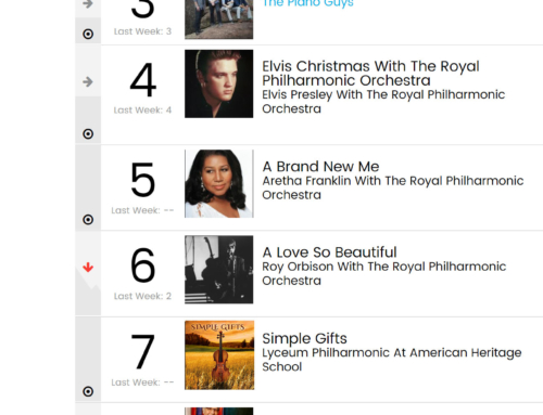 Simple Gifts Album Debut at No. 7